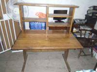 THIS IS A HANDMADE GORGROUS DESK/HUTCH COMBO....BUT CAN