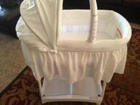 Purchased this beautiful all white bassinet for $120,my