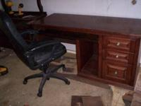 This computer desk,and chair is in good used
