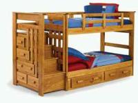ALL WOOD SOLID BUNKBED ONLY $499.99....IN STOCK LOTS OF