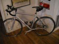 Allez Elite Road Bike for sale. Silver and black. Less