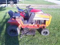 Here is a Allis Chalmer riding mower. IT has a 12.5