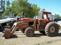 Allis Chalmers 7030 Has GB1010 Power Master Loader Will