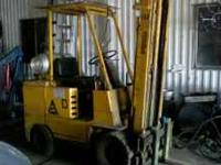It is a 3000lb lift truck with side shift for sale.