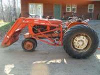 Allis chalmers WD tractor loader and three point hitch