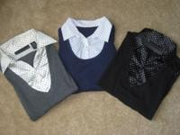 3 Allison Brittney Shirts/Blouse layered, the black &