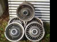"Description: (5) Licoln-Mercury 15"" five lug alloy"