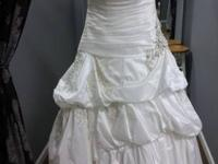 B.B. Bridal has a discontinued Allure taffeta gown with