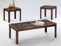 ALLURING 3PC COFFEE AND END TABLE SET ~ ~ ONLY $89 !!