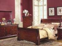 includes matching,two nightstands,dresser,mounted