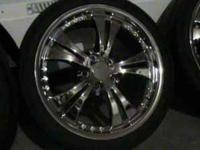 "I have a set of chrome 18"" wheels w/ 225/40 kumho Ecsta"