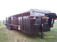 "2008 Circle W 32' by 6'8"", torsion axles, 14 ply tires,"