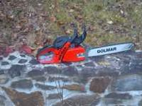 I have a practically brand new Dolmar 5105 chainsaw 18""