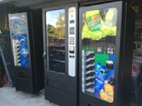For sale: 3 Selectivend vending machines with bill