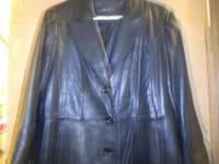 Nice women's XL black leather jacket. Almost new, wore