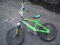 Incredible Hulk Kids Bike made by Marvel.Bike has 16""