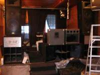Alot of pro audio equipment **Music venue going out**