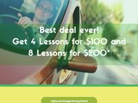 We�re offering 4 lessons for $100 and 8 lessons for
