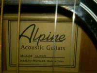 Used, great shape, Alpine Acoustic 6 string guitar