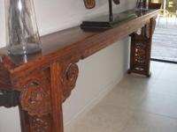 Far Eastern Antique Table - Elmwood with beautiful