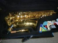 Like new alto saxophone. It is roughly 4 years old,