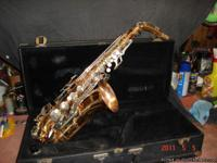 Just acquired this beautiful alto saxaphone  which