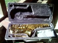 Just acquired a brand new alto saxaphone made by Simba