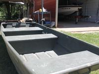 10 ft. all welded aluminum boat with 30lb thrust minn