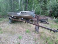 1950's Alumacraft 14' fishing boat in good condition,