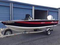 For sale is a 1990 Alumacraft Boat with a Johnson 90