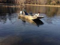 "14 foot alumacraft ""crappy John"" John boat and trailer"