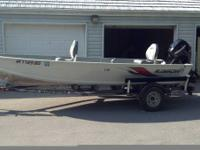 "I am selling my basically brand new 16' 9"" Alumacraft"