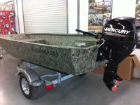 This sixteen foot Waterfowler made by Alumacraft is