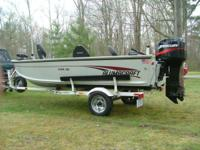 2002 Alumacraft Yukon 165 aluminum fishing boat with