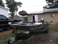 1987 16/42 alumicraft boat & trailer with 2001 Nissan