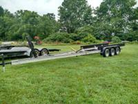 2000 AMERICAN ALUMINUM 36 FT. TRIPLE AXLE BOAT TRAILER