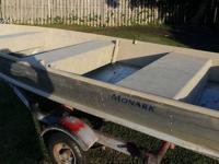 """Aluminum Boat 11' x 7"""", Motor & Trailer Galvanize"""