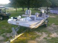 1996 All weld aluminum boat side console aluminum