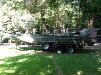 20' Welbilt aluminum boat 130 Johnson Tandem axle