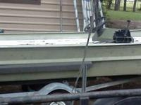 Package deal! 15 ft flat bottom aluminum boat with