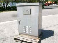 "ALUMINUM CABINET WITH LOCKABLE DOOR 26"" DEEP X 40"" WIDE"