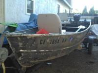 12 foot aluminum fishing boat with trailer. Both