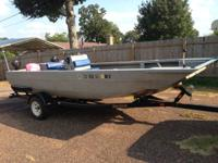 2002 18 ft scorpion aluminum jet boat with a 175 hp