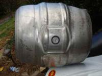 Aluminum keg. Could be used for gas tank for dune