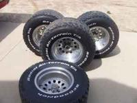 "Aluminum rims-5x4.5"" bolt pattern-taken off 1990 Jeep."