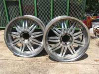 "2 available. $60/ea. Aluminum Rims. 22"" X 9 1/2"" 6 lug."