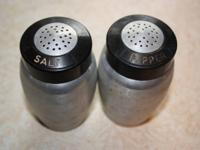 Aluminum Salt & Pepper Shakers. $8 cash.