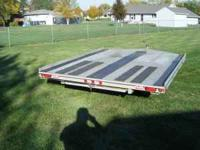 FLOW 10' ALUMINUM SNOWMOBILE TRAILER, DRIVE OFF/ON ,