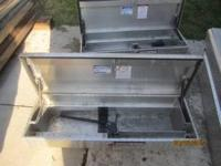 I HAVE 3 ALUMINUM TOOL BOXS FOR SALE IN MINT COND. THE