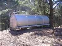 Aluminum Water Tanker No axles or wheels included, just